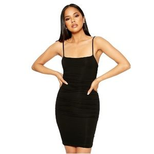 New Naked wardrobe ruched strappy black mini dress